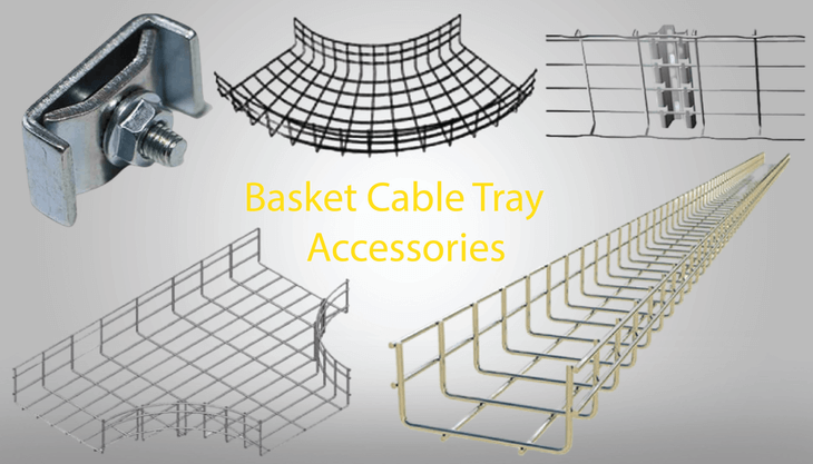 Picture of: Accessories In Basket Cable Tray What Are Cable Trays Used For Types Of Cable Tray Accessories